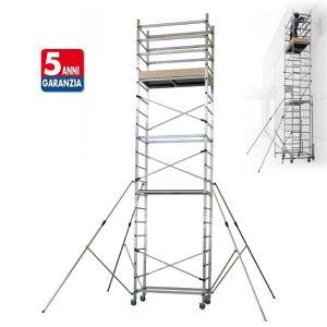 Trabatello con struttura in alluminio Altezza di Lavoro da 3 a 7 metri