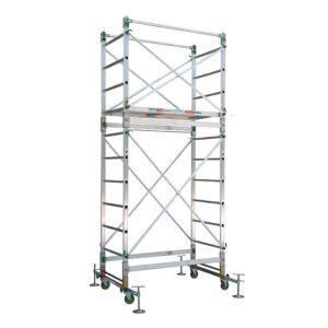 Trabattello in alluminio altezza Lavoro 4,40 mt Alumito
