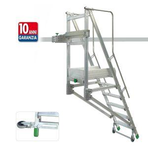 BINARY scala in alluminio a palchetto per rotaia o struttura