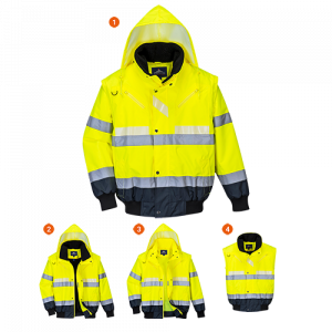 Bomber Glowtex™ 3 in 1 Portwest  - G465YNR4XL - Giallo-Navy