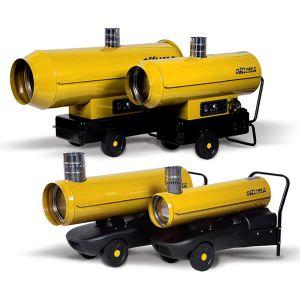 Generatori aria calda a gasolio con camino