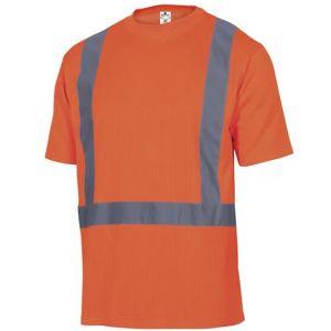 T-shirt girocollo alta visibilità in classe 2