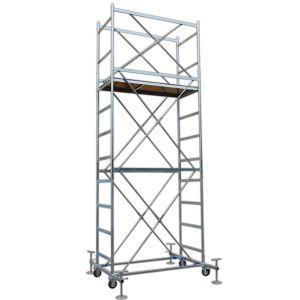 Trabattello FULL base 160x80 cm altezza mt. 5,20 con Livellatori e piano con Botola