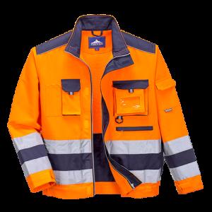 Giacca Lille alta visibilità Portwest  - TX50ONRL - Arancio-Navy