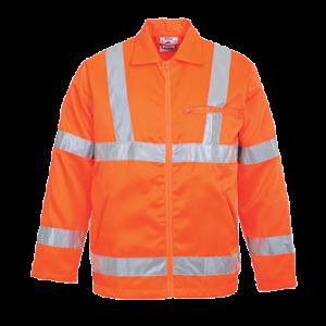 Giacca Poly-cotton RIS ad alta visibilità Portwest  - RT40ORRL - Arancio