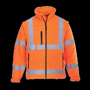 Giacca Softshell ad alta visibilità Portwest  - S428ORR4XL - Arancio