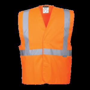Gilet ad alta visibilità con una banda e bretelle Portwest  - C472ORRL/XL - Arancio