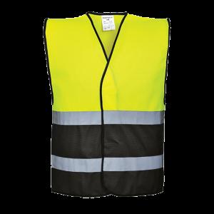 Gilet bicolore ad alta visibilità Portwest  - C484YBRL/XL - Giallo-Nero