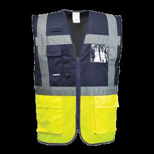 Gilet Executive Paris Portwest  - C276YNRL - Giallo-Navy