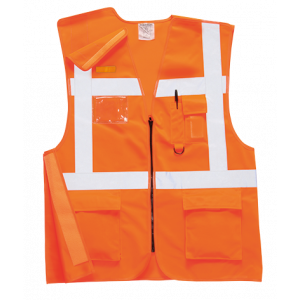 Gilet ferroviario Executive RIS Portwest  - RT26ORRL - Arancio