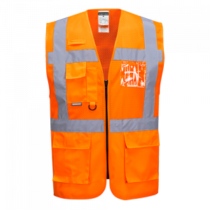 Gilet in rete Executive Madrid Portwest  - C496ORRL - Arancio