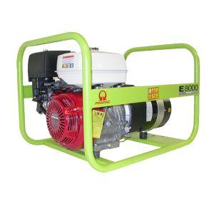 Gruppo elettrogeno Monofase benzina aperto E8000 Pramac
