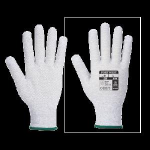 Guanto Micro Dot Antistatico Portwest  - A196G6RL - Grigio-Bianco
