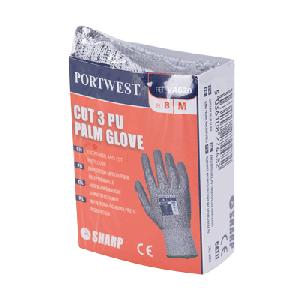 Guanto taglio 3 con palmo in PU per distributori automatici Portwest  - VA620G7RL - Grigio-Grigio