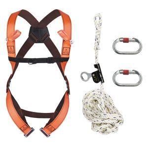 Imbracatura di sicurezza con corda 20 mt con anticaduta scorrevole