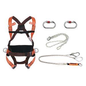 Kit imbracatura con doppio gancio rapido per antennisti Elara 320