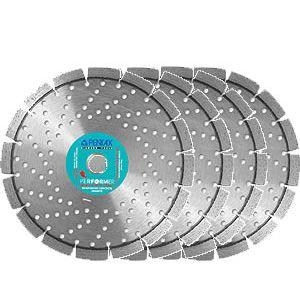 4 dischi diamantati Pentax cemento armato-granito sp Ø 230