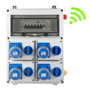 Quadro Portatile Termoplastico  a 4 Prese interbloccate IP67  serie ARCHIMEDE