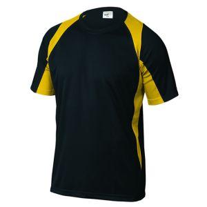 Maglietta da Lavoro Traspirante Nera e Gialla