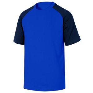 Maglietta da lavoro in cotone di colore Blu e Nero