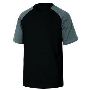 Maglietta da lavoro in cotone nera/grigia