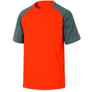Maglietta da lavoro in cotone grigio/arancio