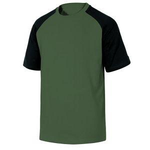 Maglietta da lavoro in cotone di colore Verde e Nero