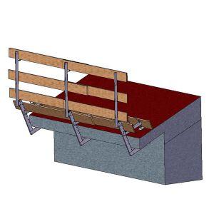 Parapetti per piani orizzontali, verticali inclinati (0/40 cm )