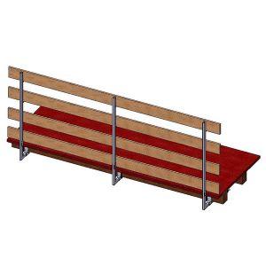 Parapetto anticaduta per tetti con travi in legno (0/22 cm )