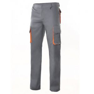 Pantaloni da Lavoro con Estivi Grigio e arancio