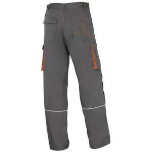 Pantaloni da lavoro felpati grigio