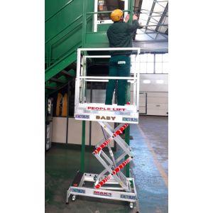 Piattaforma aerea manuale altezza operatore metri 3,50