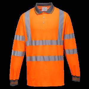 Polo a maniche lunghe Cotton Confort Portwest  - S271ORRL - Arancio