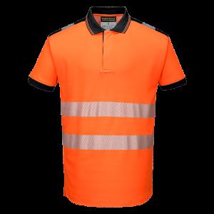 Polo Alta Visibilità Vision Portwest  - T180ORRL - Arancio