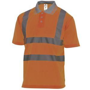 Polo manica corta alta visibilità Colore Arancio