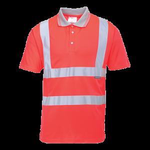 Polo maniche corte alta visibilità Portwest  - S477RERL - Rosso