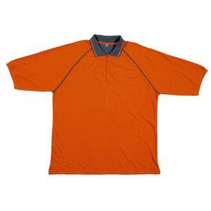 Polo da lavoro in cotone manica corta arancio Panoply
