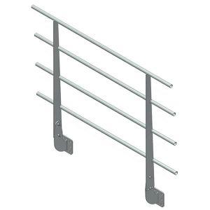Parapetto permanente fisso in ferro con piastra Vertical