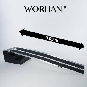 Rampa in alluminio  pieghevole antiscivolo per carichi leggeri da 300 cm