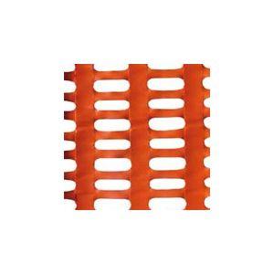 Rete recinzione per cantiere arancio