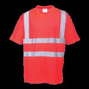 T-shirt alta visibilità Portwest  - S478RERL - Rosso