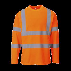 T-shirt alta visibilità maniche lunghe Portwest  - S278ORRL - Arancio