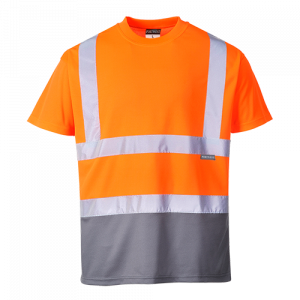 T-shirt bicolore Portwest  - S378OGYL - Arancio-Grigio
