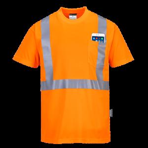T-Shirt con taschino ad alta visibilità Portwest  - S190ORR4XL - Arancio