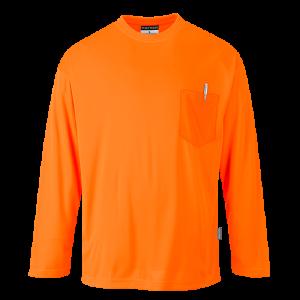 T-Shirt Day-Vis manica lunga Portwest  - S579ORR4XL - Arancio