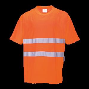 T-shirt in cotone comfort Portwest  - S172ORR4XL - Arancio