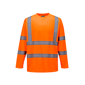 T-Shirt manica lunga ad alta visibilità Portwest  - S178ORRL - Arancio