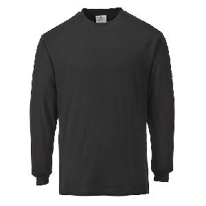 T-Shirt maniche lunghe Ignifuga e antistatica  Portwest  - FR11BKRL - Nero