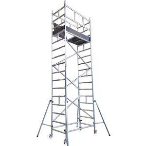 Trabattello in alluminio altezza lavoro 6 mt Fiorino