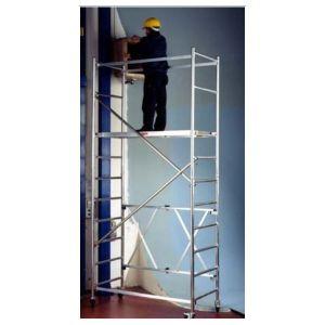 Trabattello alluminio Roller modulo A+B Altezza L. 4.50 mt.
